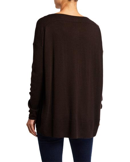 Lafayette 148 New York Fine-Gauge Merino Wool Bateau-Neck Sweater