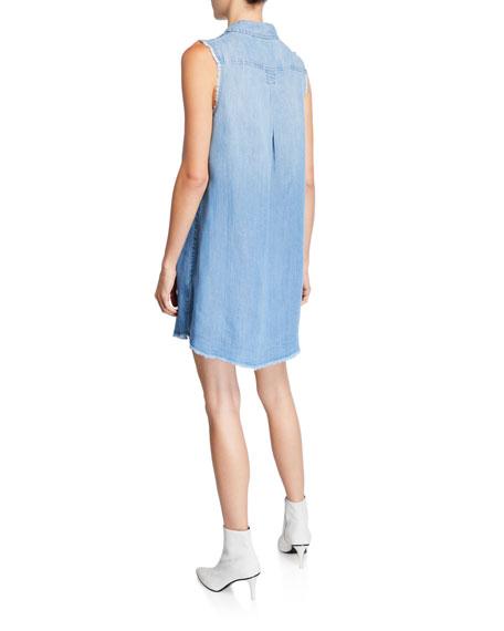 True Religion Georgia Frayed Button-Down Dress