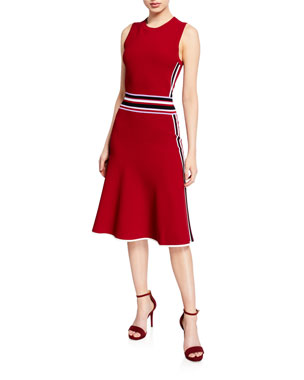 cd1adb1c6 Diane von Furstenberg Elsie Striped Sleeveless Fit-&-Flare Dress