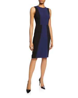 1e5e9a14e6e3 Diane von Furstenberg Calliope Colorblock Sleeveless Sheath Dress
