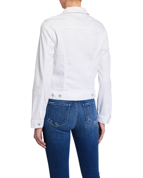 Image 3 of 4: AG Adriano Goldschmied Robyn Button-Front Denim Jacket, True White