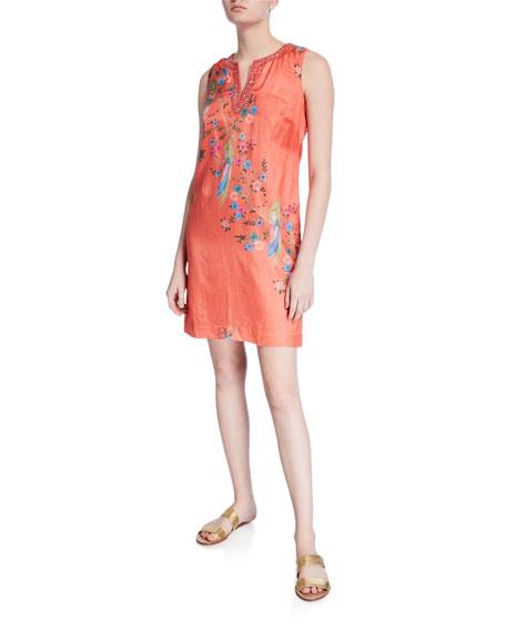 Bella Tu Avery Embellished V-Neck Sleeveless Dress