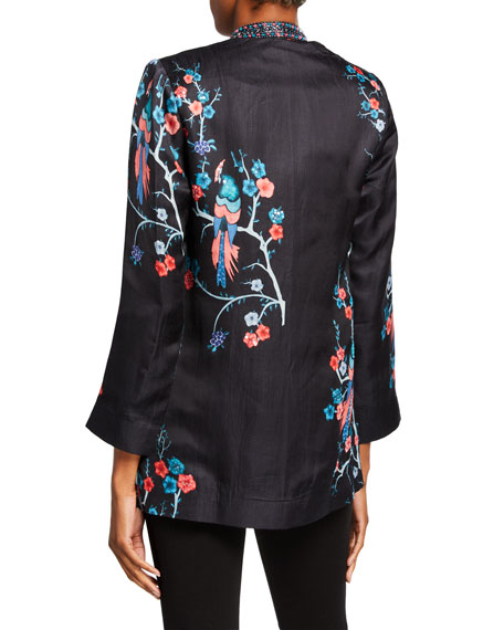 Bella Tu Avery Open-Front Jacket with Bead Embellished Collar
