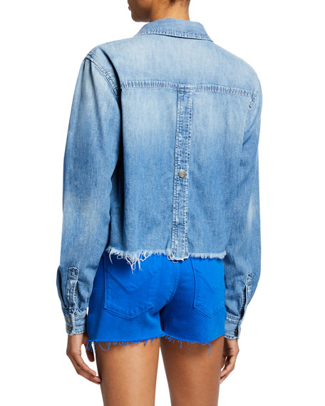 Hudson X Boyfriend Frayed Denim Top