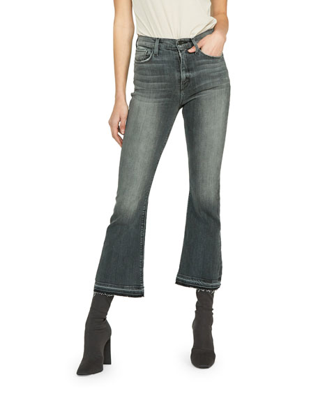 Hudson Holly High-Rise Cropped Flare Jeans