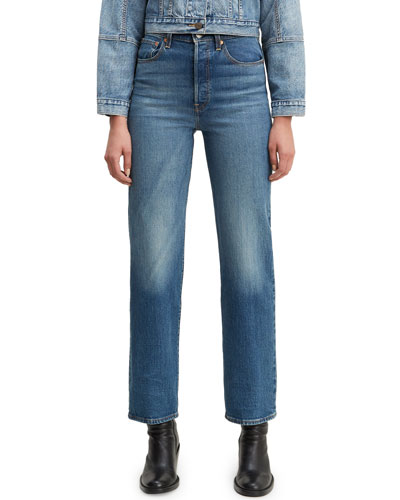 Ribcage High-Rise Straight Jeans