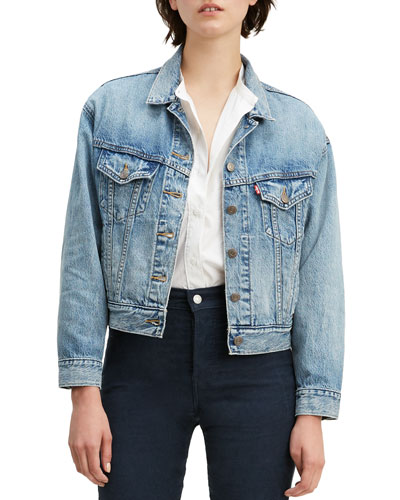 Slouchy Denim Trucker Jacket