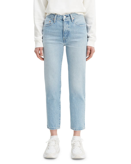Levi's Made & Crafted 501 Crop High-Rise Jeans with Embroidery