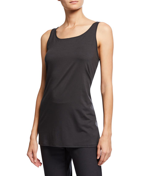 Eileen Fisher Petite Scoop-Neck Long Jersey-Knit Tank