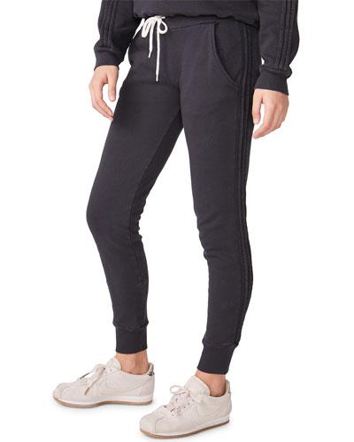 Pintuck Sporty Drawstring Sweatpants
