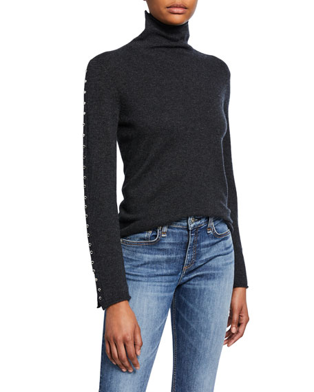 Zadig & Voltaire Crome Studded Turtleneck Sweater