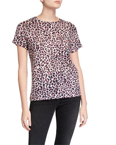 Walk Leopard-Print Linen Tee