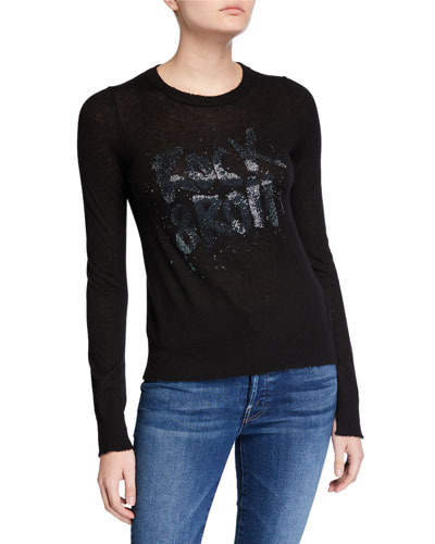 Source Sequined Cashmere Sweater