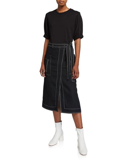 3.1 Phillip Lim Topstitch Combo Tee Dress
