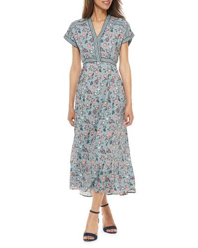 Empire-Waist Floral Maxi Dress