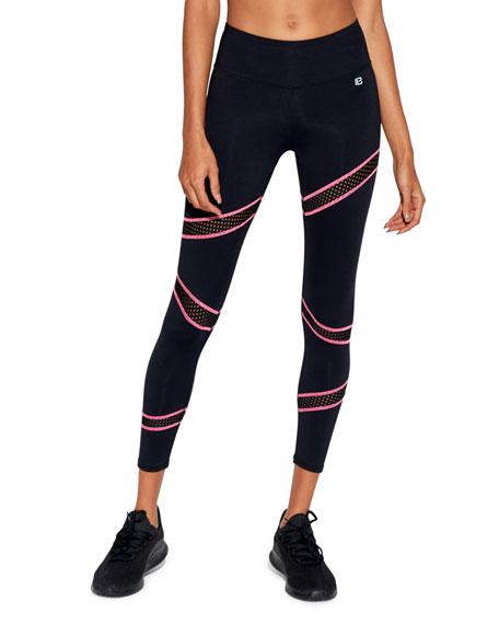 Body Language Sportswear Slash Ankle Leggings with Mesh