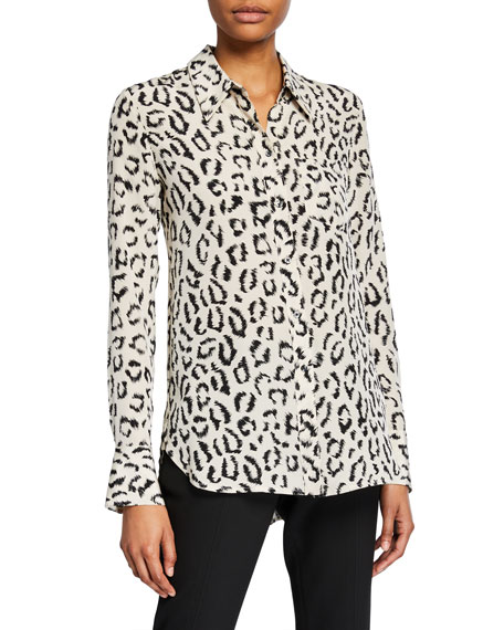 Image 1 of 3: Emerson Printed Button-Down Top
