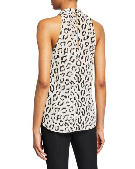 A.L.C. Ella Leopard-Print Cowl-Neck Top