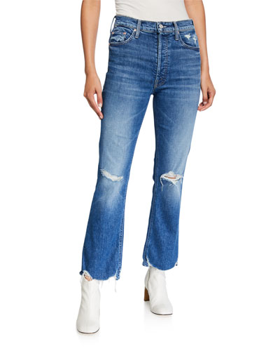 The Tripper High-Rise Distressed Ankle Jeans