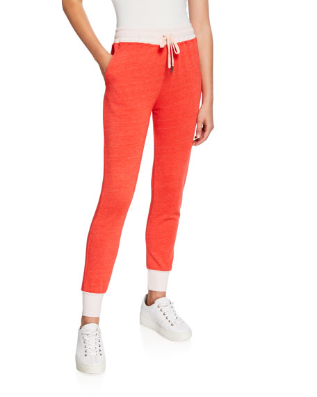 Sundry Colorblock Tapered Drawstring Sweatpants