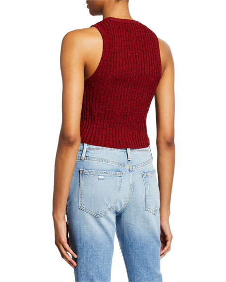 Image 2 of 2: A.L.C. Marie Sleeveless Crop Top