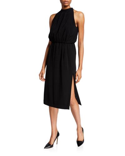 Halter Tie-Neck Knee-Length Dress