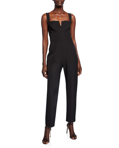 The Dita Sleeveless Notched Bodice Jumpsuit