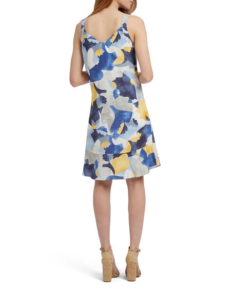 NIC+ZOE Sun Seeker V-Neck Sleeveless Ruffle-Hem Dress