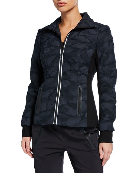 Blanc Noir Performance Camo Quilted Jacket