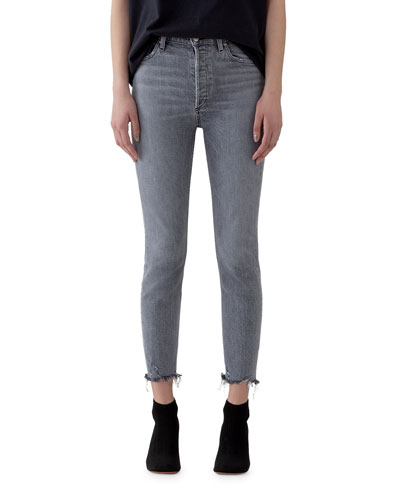 Nico High-Rise Slim Jeans with Raw Hem