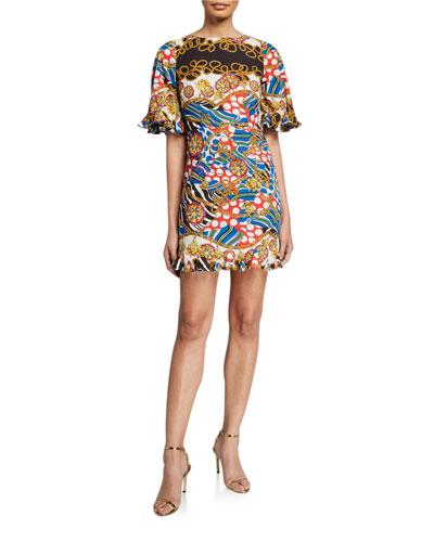 Hailey Animal-Print Dress