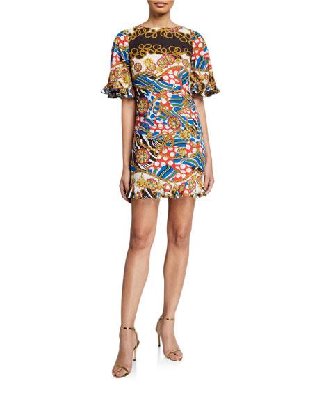 Rhode Hailey Animal-Print Dress