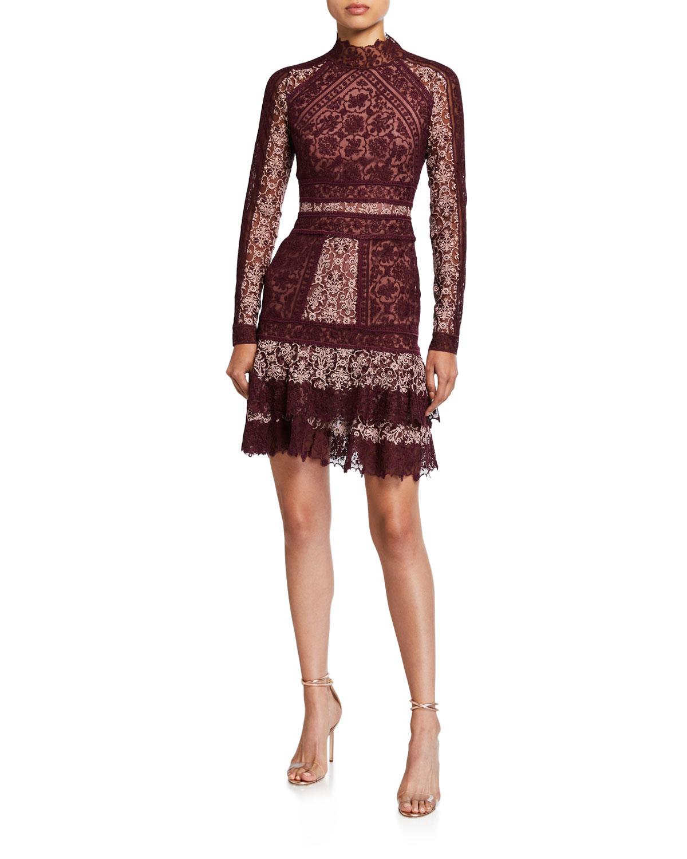 Scarf Print Embroidered Ruffle Mini Dress by Jonathan Simkhai