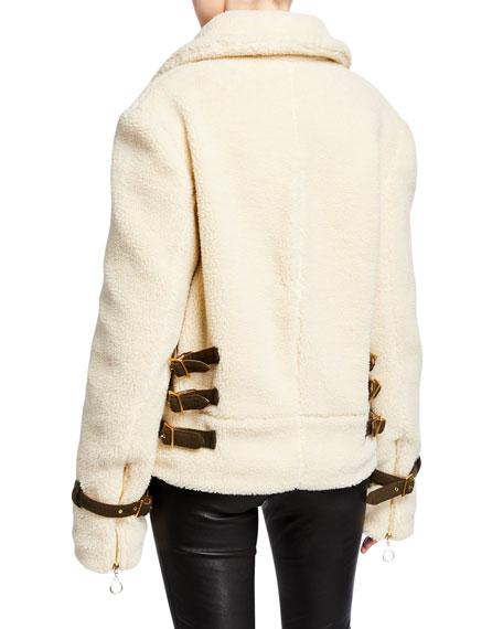 Jonathan Simkhai Zip-Front Sherpa Jacket