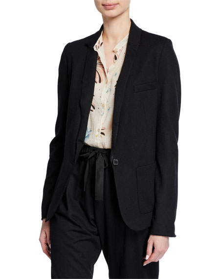 Image 1 of 3: Forte Forte Chic Flannel Single-Button Jacket