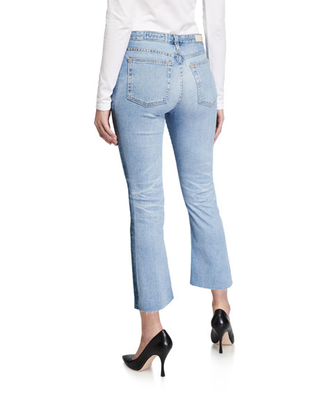 AG Jodi High-Rise Slim Flare Cropped Jeans
