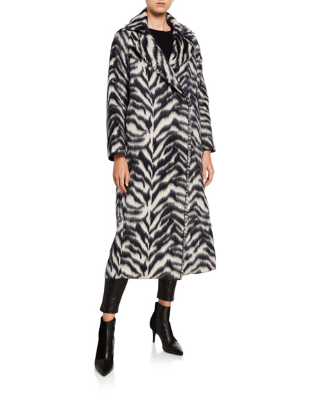 Image 2 of 3: Forte Forte Corteccia Wool Jacquard Long Coat