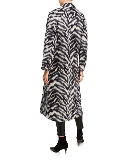 Image 3 of 3: Forte Forte Corteccia Wool Jacquard Long Coat