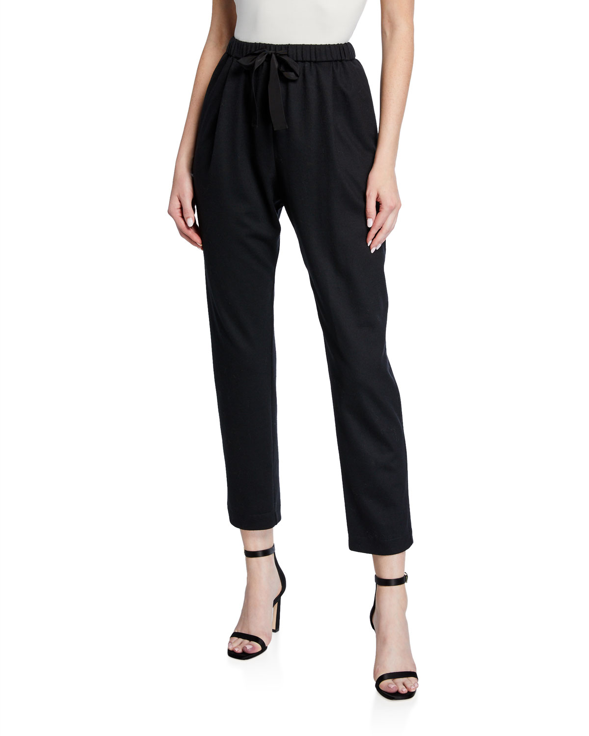 Forte Forte Chic Flannel Drawstring Pants