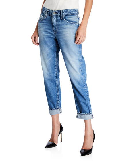 AG The Ex-Boyfriend Mid-Rise Tapered Jeans