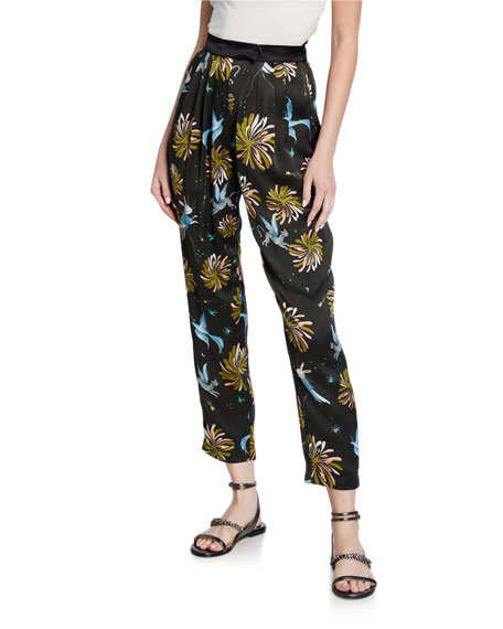 Forte Forte Printed Satin Ankle Pants