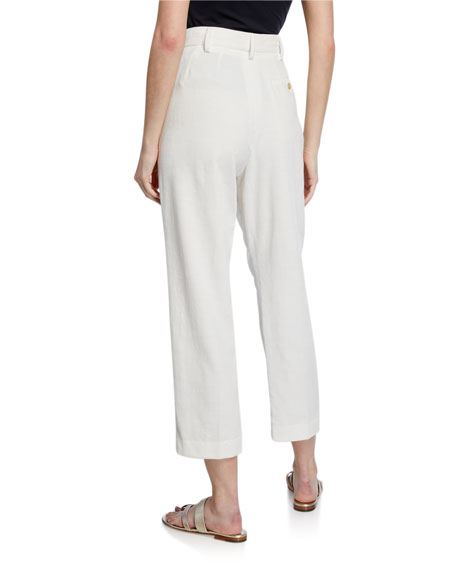 Image 2 of 3: Forte Forte Slub Cotton Ankle Pants