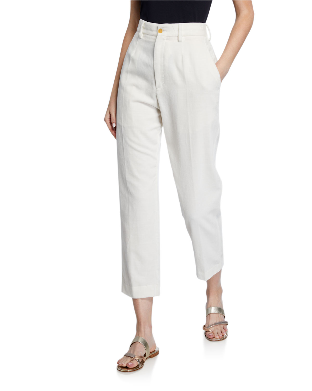 Forte Forte Slub Cotton Ankle Pants