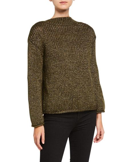 Forte Forte V-Back Metallic Mohair Sweater