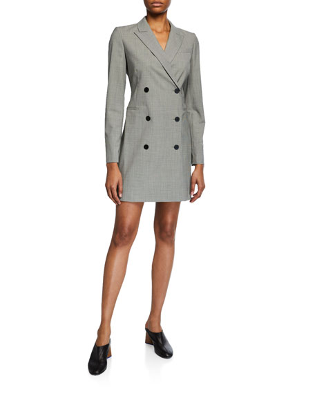 Theory Wool Houndstooth Blazer Dress