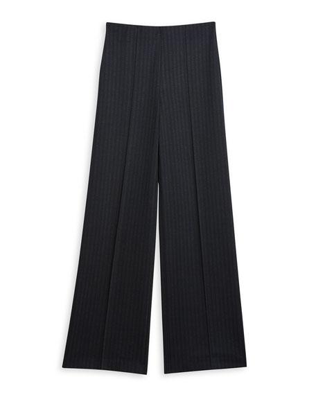 Theory Pale Stripe Wide-Leg Pants