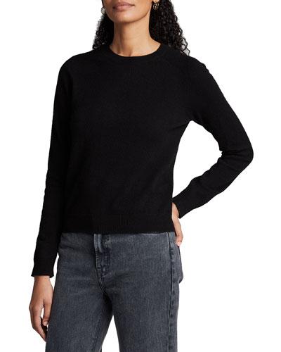 Cashmere Crewneck Long-Sleeve Sweater