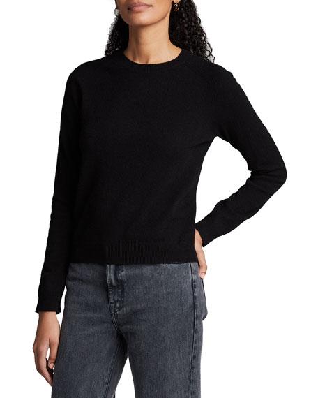 Majestic Paris for Neiman Marcus Cashmere Crewneck Long-Sleeve Sweater