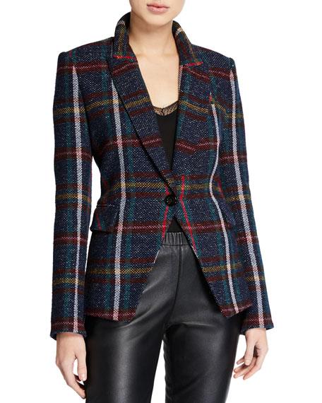 Veronica Beard Zane Plaid Dickey Jacket