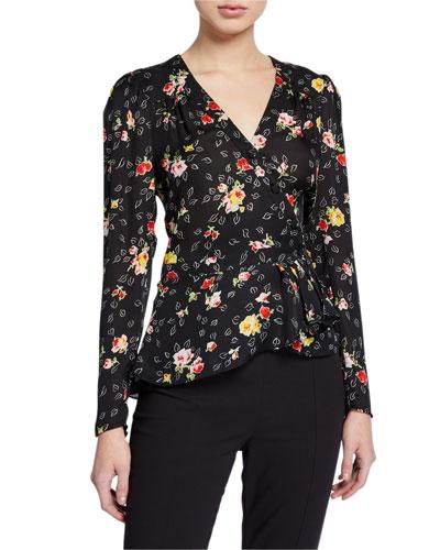 Kiona Floral Button-Front Blouse